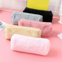 Girl Cute Plush Fluffy Pencil Case Makeup Pouch Coin Purse Storage Cosmetic Bag