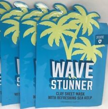 3 VICTORIA'S SECRET WAVE STUNNER FACE CLAY SHEET MASK WITH REFRESHING SEA KELP