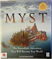 Myst (PC, 1996) - Big Box w/ BONUS!! - Strategy Guide - Complete w/ Map