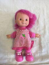 "Vintage Gi-Go 8 1/2"" Doll Pink Hair Cloth Body Vinyl Face & Hands GUC"
