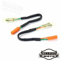 2 Pc Blinke Turn Signal Wire Plug Adapters Connector Cable For Kawasaki Ninja ZX
