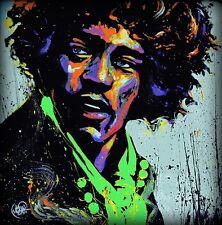 "2009 Jimi Hendrix ""Hues of Jimi Hendrix"" Poster Approx 24"" x 24"""