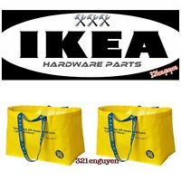 IKEA VARLDSBRA Frakta 75th Anniversary Shopping Bag / 2 LARGE YELLOW TOTE BAGS