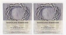 4 REFILLS Bath Body Works MAHOGANY TEAKWOOD Wallflower Home Bulbs Plug In 2 Pack