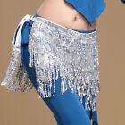 12 Colors Women Belly Dance Tassel Belts Belly Dance Hip Scarf Sequins Belt