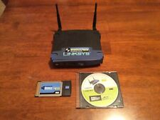Linksys WRT54G 54 Mbps 4 Port Switch Wireless G Router 2.4 GHz Notebook Adapter