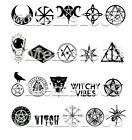 Witch Nail Art water decals Witchcraft Nail art Witch Nail Decals