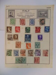 PA 427 - Double Sided Page Of Mixed Italy Stamps