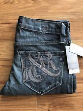 NWT Rock & Republic VHN0550 Goal Blue Straight Leg Jeans Sz 29 $239