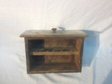 Vintage   Industrial Wood Drawer Parts Bin Shelf letter box shelf