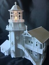 Miniature Victorian #9 Lighthouse Train Layout HO Scale Gauge w/ Interiors Incl