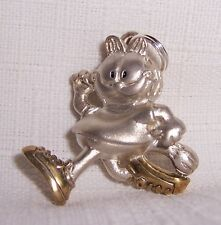 Garfield Jogger Charm or Pendant Silver & Gold New