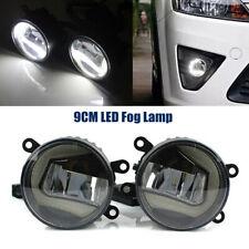1Pair Full LED Fog Lamp Angel Eye + Sun Light Front Bumper Lighting Clear Lens