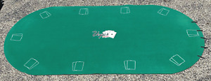 """Vegas Classics Deluxe Oval Poker Table Top with Storage Case 36"""" x 72"""" oval"""