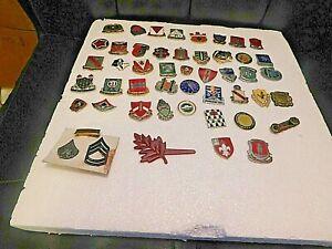 Vintage 47 Military Lapel Hat Pins -
