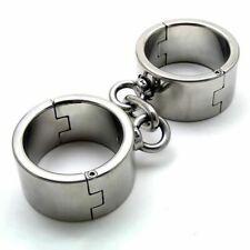 Steel Heavy Duty Small/Female Bondage Wrist Cuffs - shackles manacles metal