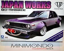 KIT NISSAN SKYLINE JAPAN WORKS 4Dr LB PERFORMANCE 1/24 AOSHIMA 09802
