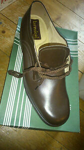 SALE PRICE TERMICAL MENS VINTAGE BROWN LEATHER LACE SHOE UK 10 NEW XMAS