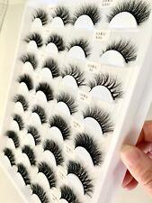 16Pairs MINK Lashes Siberian Eyelashes 3D Makeup Fur New Extension US SELLER