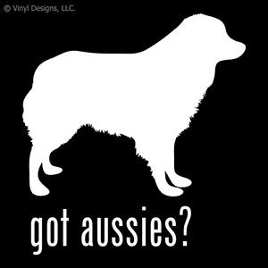 GOT AUSSIES? AUSTRALIAN SHEPHERD DOG DECAL - DOGS