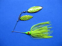 3/8 oz Spinner Bait  CHARTREUSE  bass musky pike jig tackle lure lot T38Wpr930