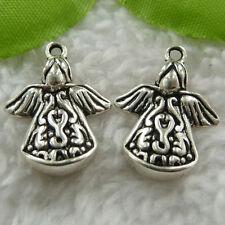 Free Ship 120 pcs tibet silver angel charms 22x16mm #552