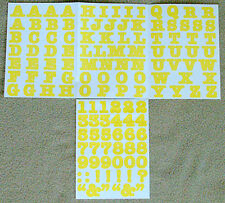Creative Memories Alphabet Letter ABC and number 123 stickers - Yellow