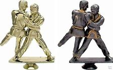 10 Judo Figuren 3D mit Marmorsockel 14cm (Pokale Turnier Kampfsport Gravur)