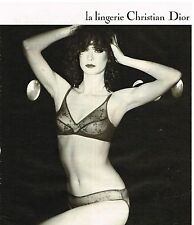 Publicité Advertising 1980 Lingerie sous vetements soutien Gorge Christian Dior