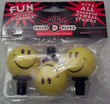Smiley Face Drum Nutz Cymbal Nuts Cymbal topper NEW Exclusive Product! 6mm 8mm