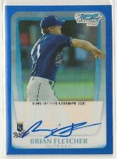 Brian Fletcher 2011 Bowman Chrome Prospect BLUE Refractor Auto /150 - KC ROYALS