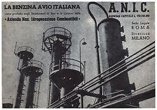 PUBBLICITA' BENZINA AVIOITALIANA BARI LIVORNO ANIC AUTARCHIA PETROLIO 42