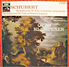 ++OTTO KLEMPERER/PHILHARMONIA ORCH. symphonie 8 & 5 SCHUBERT LP 1972 EMI EX++