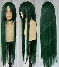COS New Long Dark Green Cosplay Party Wig 100cm H200