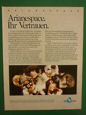 5/1990 PUB ARIANESPACE ARIANE SPACE ESPACE FUSEE ROCKET RAKETE GERMAN  ADVERT