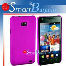 Premium PURPLE MESH Hard Cover Case For Samsung Galaxy S2 i9100 Screen Protector