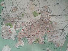 1895 Plymouth, Stonehouse & Devonport Original Antique Map UK England City