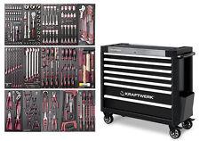 Servante professionnelle d'atelier avec 226 outils et 7 tiroirs Kraftwerk