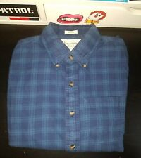 Abercrombie & Fitch Men's Long Sleeve Muscle Fit Blue Shirt Size Small plaid