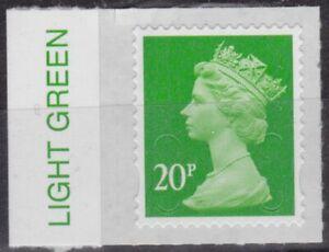 z5060) Great Britain - Machins. 2016. MNH.  SG u2924 20p M16L Colour  Tab
