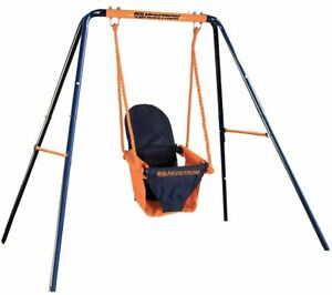 Outdoor Folding Swing Set Safety Seat Frame Garden Play Baby Toddler Kids Childs