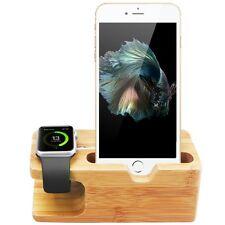 Madera de Bambú estación base de Carga Soporte Soporte Para Apple Reloj iPhone 6s 7 Plus