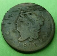 1816 Large Cent   #LC1816