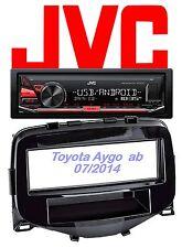 JVC Autoradio Set 2 Toyota Aygo MP3 USB  - Android Steuerung - 4x50Watt  Aux In