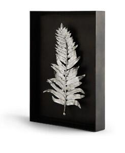 Michael Aram Fern Shadow Box Antique Nickel Wall Art 176048 $395.00