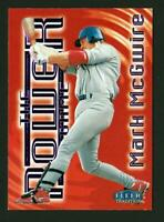 1998 Fleer Tradition The Power Game #15PG Mark McGwire St. Louis Cardinals