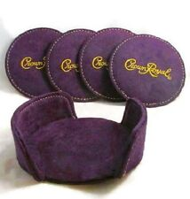 **CROWN ROYAL Whisky ** Soft Felt Coasters - Set of 4 w/cradle - FREE SHIPPING