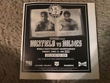 Vintage EVANDER HOLYFIELD vs LARRY HOLMES Poster Print Ad 1992 BOXING RARE