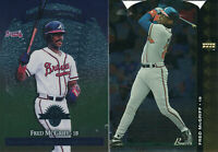 Fred McGriff lot of 2 different Atlanta Braves Baseball Cards