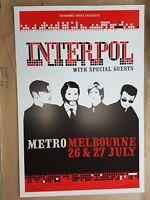 Interpol Melbourne 2005 Concert Poster Art Jazz Feldy Limited Edition